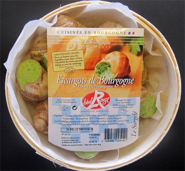 Produits Bourgogne Escargots : bourriche 24 escargots label rouge