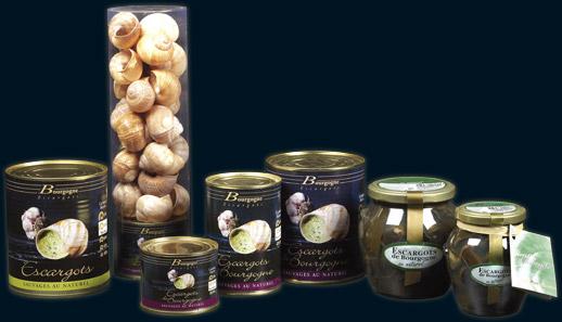 Produits Bourgogne Escargots : présentation de la gamme